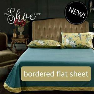 Bordered Flat Sheet Egyptian Cotton 1200 TC